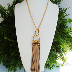 Equestrian Style Leather Necklace